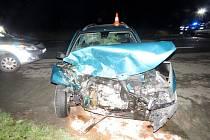 Dopravní nehoda dvou osobních automobilů na Dobrušsku.