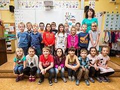 Žáci 1. třídy ze ZŠ Masarykova v Rychnově nad Kněžnou.