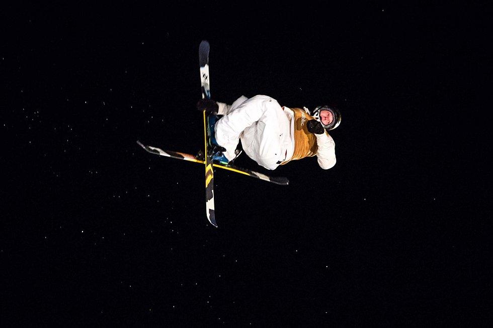 Birk Ruud na Soldiers - FIS finále Světového poháru v Big air v Deštném v Orlických horách.