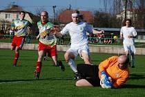 Z utkání okresního přeboru II. třídy Solnice - Deštné C (0:3).