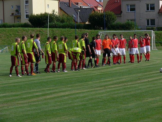 Fotbalové utkání Dobrušky proti Kostelci nad Orlicí