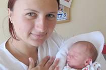 VOJTĚCH FRIČ: Manželé Kateřina a Michal Fričovi z Českého Meziříčí přivedli na svět syna. Narodil se 5. září v 8.52 hodin s váhou 2,73 kg a délkou 49 cm. Tatínek to při porodu zvládl výborně.