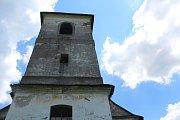 Kostel na Vrchní Orlici.