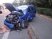 Dopravní nehoda tří vozidel v Častolovicích.