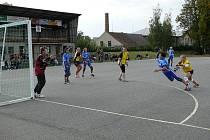 Z prvoligových utkání národních házenkářů v Dobrušce.