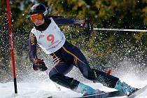 46. ročník mezinárodních závodů žáků a žákyň ve sjezdovém lyžování se ve Ski centru v Říčkách v Orlických Horách. Na snímku vítězka slalomu Valentina Volopichová z České republiky.