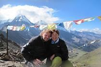 S manželkou Lenkou při výpravě v Číně v pohoří Gongga Shan. Fotografie vznikla v 5500 metrech.