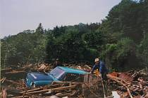 Povodeň 1998 a její následky. Z archivu rodiny Fišerovy