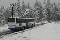 Kalamitní situace na silnici č. 319/1 Blatiny - javornický lom.