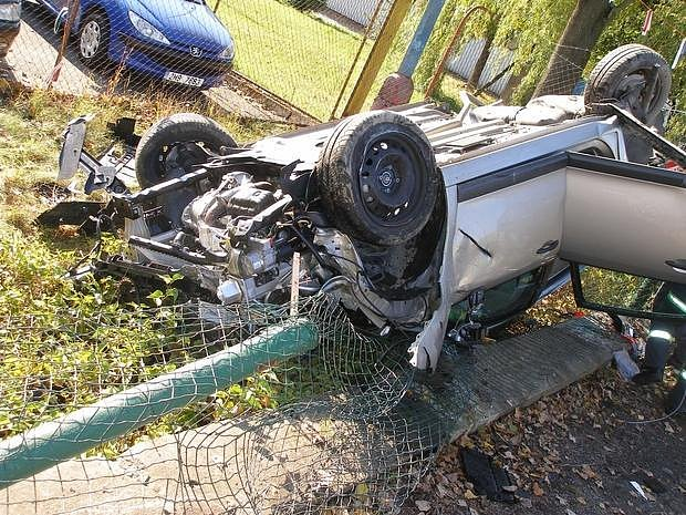 Dopravní nehoda v Kostelci nad Orlicí.