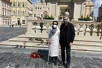 Renata Maravcová a Petr Tojnar v Praze.