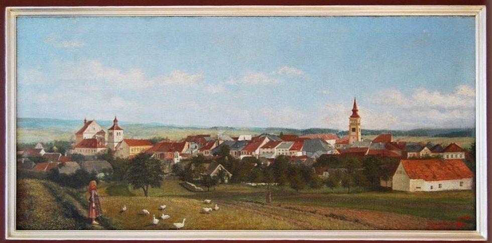 Panorama Dobrušky od Františka Kupky. Zdroj: Město Dobruška