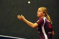 BLÍZKO MEDAILE byla na mistrovství ČR doberská stolní tenistka Simona Šlehobrová, která spolu s Michalem Benešem z Havířova prohrála ve čtvrtfinále smíšené čtyřhry