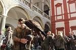 Sokolníci s dravci slavnostně zahájili setkání v Opočně.
