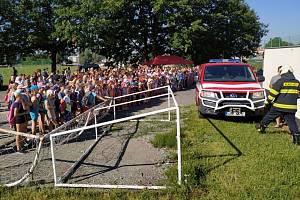 Evakuace školy byla naštěstí jen cvičná.