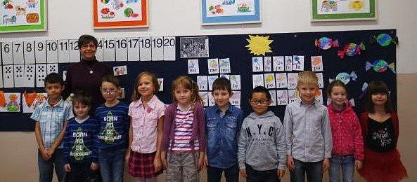 Žáci 1.třídy Základní školy Masarykova, Čermná nad Orlicí.