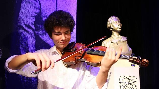 Daniel Matejča z Liberce, laureát 61. ročníku Kocianovy houslové soutěže 2019