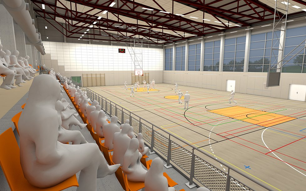 Vizualizace nové sportovní haly.