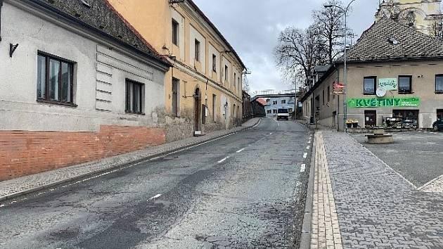 Komenského ulice v Častolovicích