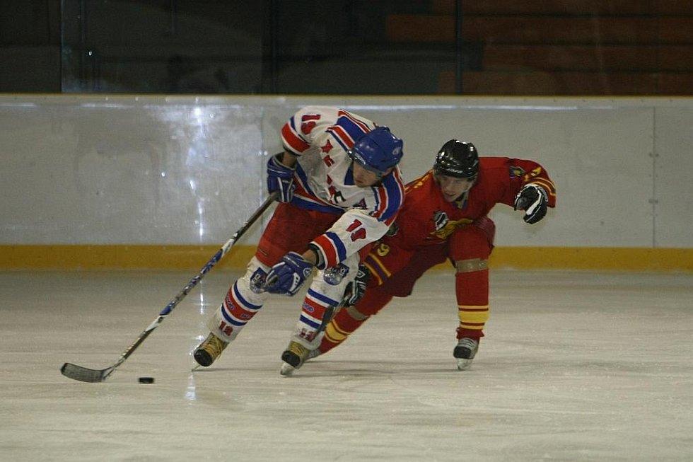 Z utkání hokejové krajské ligy Náchod - Opočno (7:3).