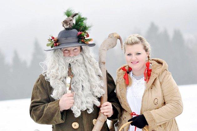 Rampušák s Kačenkou se jako každoročně loučí se zimou.