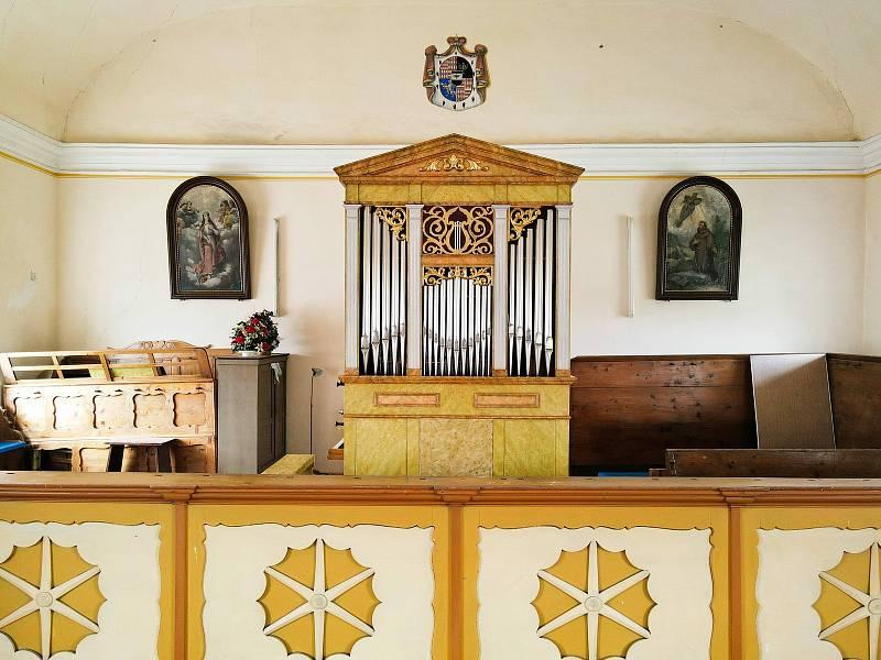 Varhany v Olešnici v Orlických horách..