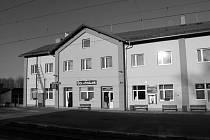 Vlakové nádraží v Borohrádku.