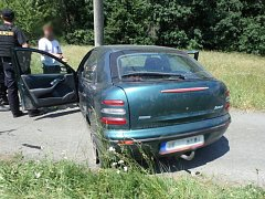 Havárie osobního automobilu ve Slatině nad Zdobnicí.