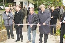 Slavností otevření mostu přes Divokou Orlici v Bartošovicích v Orlických horách
