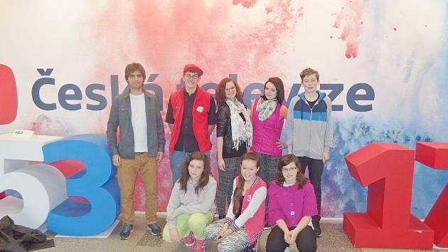Zástupkyně štábu školní televize z Rychnovska vystoupila v pořadu Zprávičky.