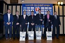 NEJLEPŠÍ STŘELCI (zleva): Zdeněk Rulc (I. A třída – SK Sobotka – 26 branek), David Hořínek (I. B třída – SK Albrechtice n. O. – 26 branek), Aleš Hašek (Krajský přebor – TJ Dobruška – 24 branek), Lukáš Pánek (I. B třída – TJ Sokol Nepolisy – 38 branek).
