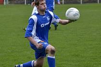Dvěma gólovými trefami přispěl k premiérovému tříbodovému vítězství týnišťských fotbalistů Jan Hrubý.