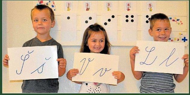 Žáci 1.třídy ze Základní školy Záměl.