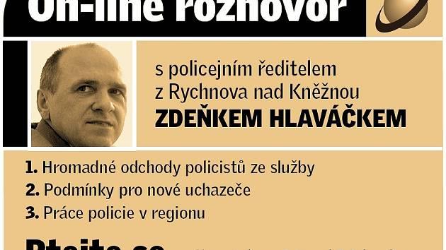 On-line rozhovor se Zdeňkem Hlaváčkem.