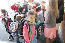 Ve škole se první den líbilo také Anežce Hostinské z Končin.