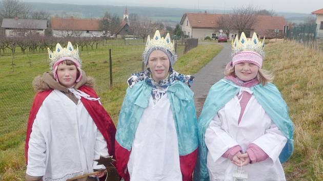 Tři králové chodili v loňských letech také v Chlenech.