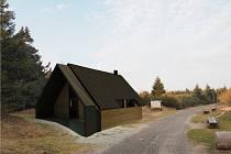 Vizualizace nové útulny nedaleko vrcholu Velké Deštné. Zdroj: archiv spolku Velká Deštná