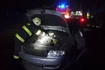 Havárie osobního automobilu mezi Rychnovem nad Kněžnou a Lokotem.