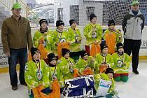 Hokejová přípravka HC Sokol Čestice.
