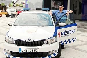 Nová fabia městské policie v Týništi nad Orlicí.