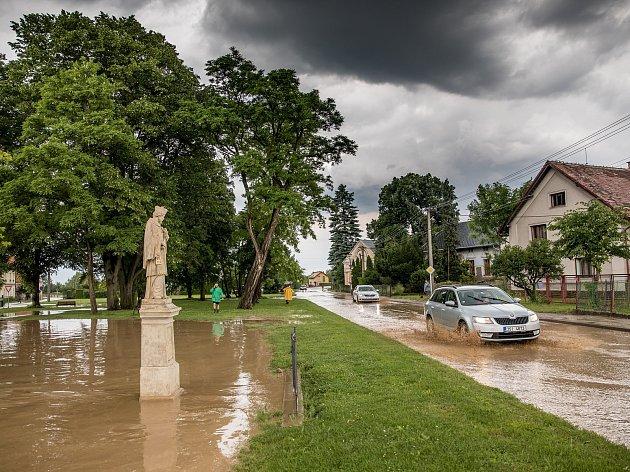Přívalové deště na Rychnovsku.