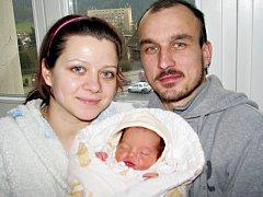 ELEN KRČMÁŘOVÁ  je první radostí pro Veroniku a Petra ze Lhoty u Potštejna. Na svět si 21. ledna  ve 12. 10 hodin přinesla váhu 2,31 kg.