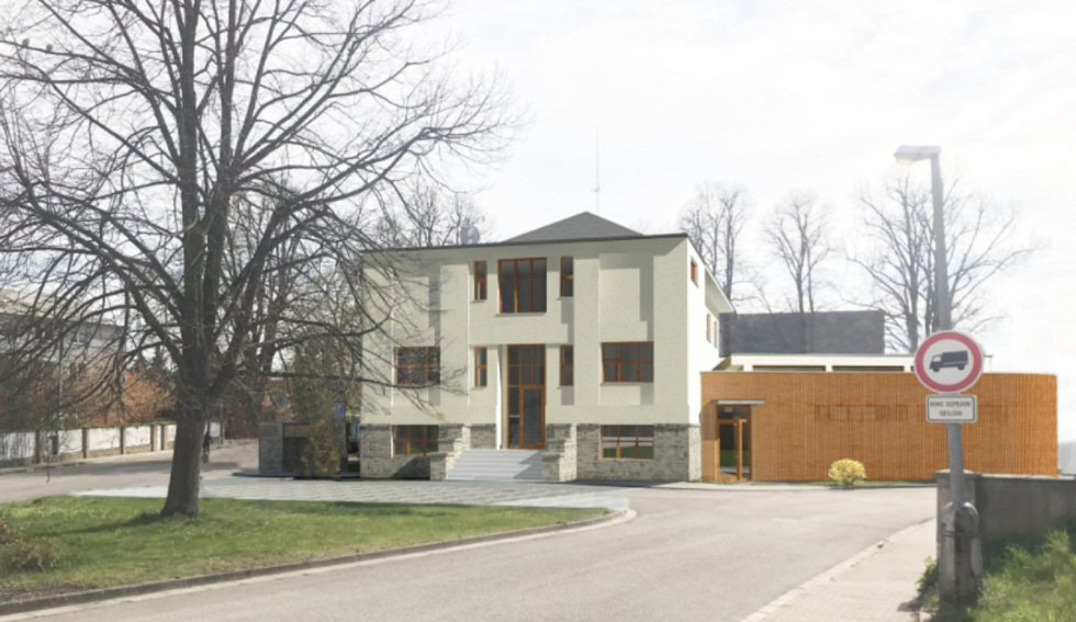 Vizualizace podoby zrekonstruované sokolovny v Solnici. Zdroj: archiv MÚ Solnice