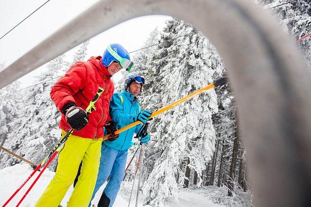 První letošní lyžování v Krkonoších