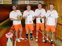 Vítězný tým Marta Dobruška (zleva) Petr Svoboda, Vít Svoboda, Pavel Míšek a Jan Sedláček.