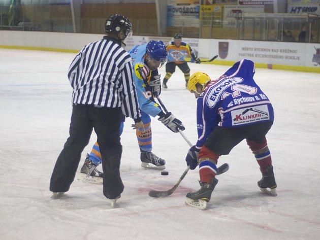 VÝHRA NA ÚVOD. Hokejisté HC Rychnov vstoupili do nové sezony RHL úspěšně, když po boji zdolali Predátory z Potštejna.
