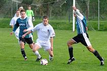 Jedním z nejlepších hráčů zápasu fotbalového krajského přeboru Dobruška Rychnov nad Kněžnou (0:3) byl hostující útočník MARTIN VALÁŠEK (na snímku) který vstřelil dva góly.