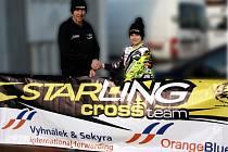LEGENDA A TALENT. Bývalý motokrosový reprezentant a šéf Starling Cross teamu Zdeněk Špaček a dvanáctiletý Jan Wagenknecht.