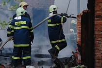 Požár v Třebešově.