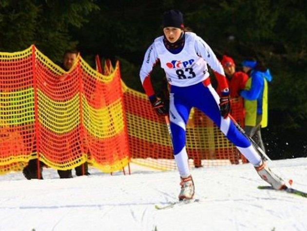 Výborného výsledku dosáhla na mistrovství České republiky dorostu v běhu na lyžích na Horních Mísečkách mladší dorostenka Jitka Štefková.
